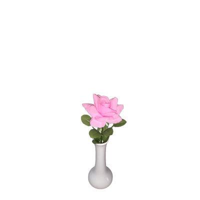 Vaser hvide slank hals H:15 cm.