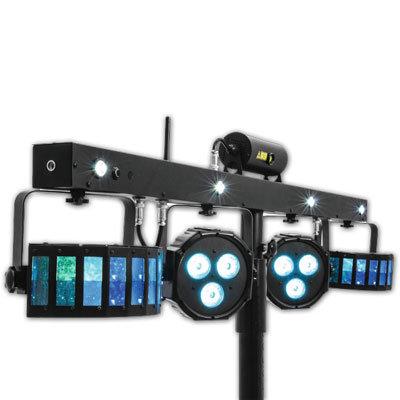 LED-discolys Lasereffekt bar FX sæt med stativ