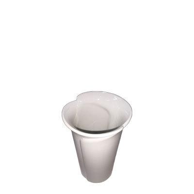 Vaser hvide lille H:12 cm.
