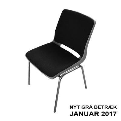 Stabelstole Mørkegrå Stof