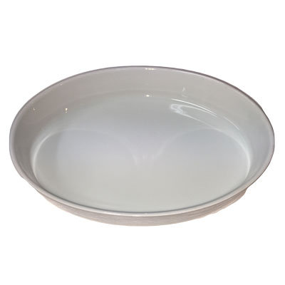 Hvide fade ildfast ovale 38 cm.