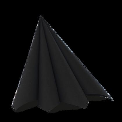 Dunilin servietter 45 stk. /40x40cm. Sort