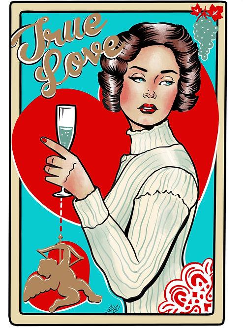 CARD - True Love; Bubbles