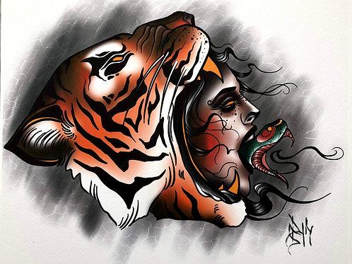 Tiger Snake Lady