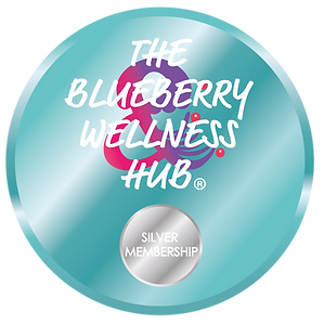 The Blueberry Wellness Hub Logo Silver.p