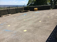 Playground with distancing markings.JPG