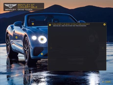 Bentley GT Convertible in the Sierra Navada