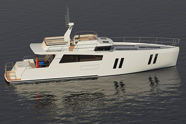 CMY173 motor yacht exterior-stb aft quarter view