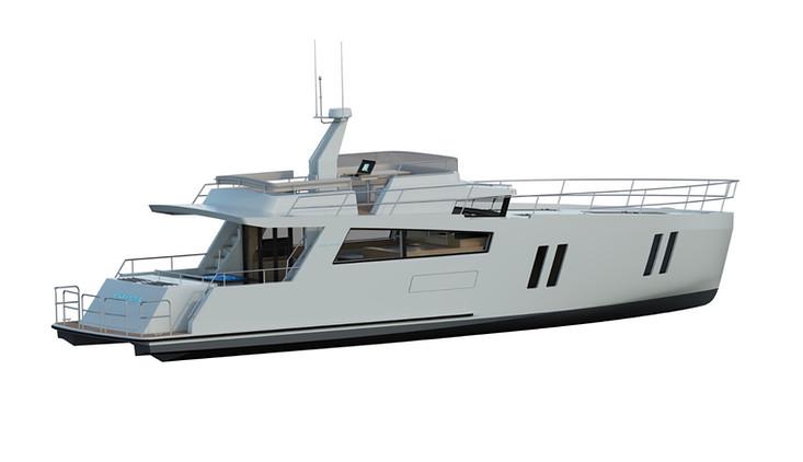 CMY173 motor yacht exterior-stb stern quarter view