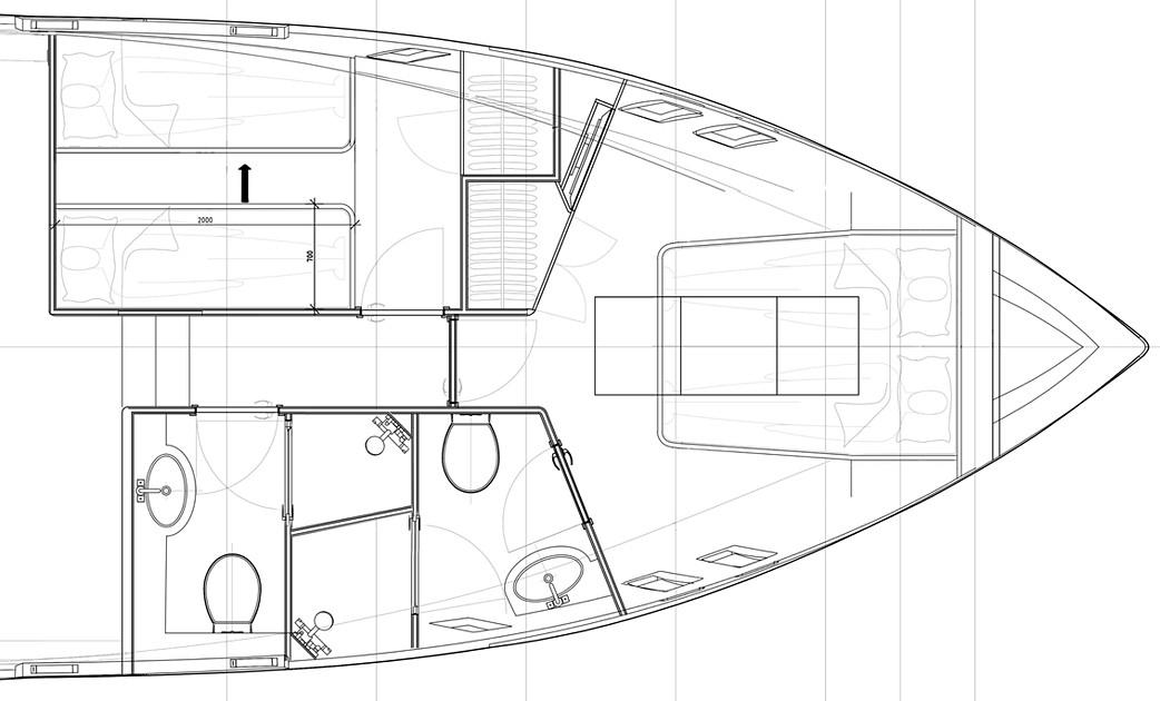 GA of main deck forward