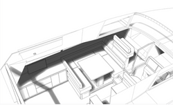 Design drawings of the Standard version of the CMY161 interior