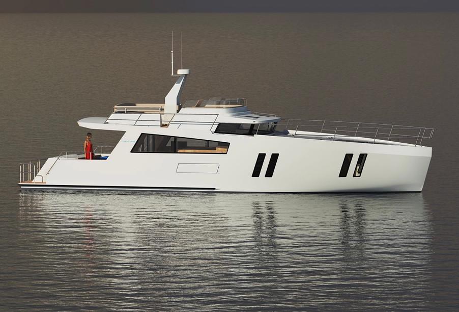 CMY173 motor yacht exterior-stb forward quarter view