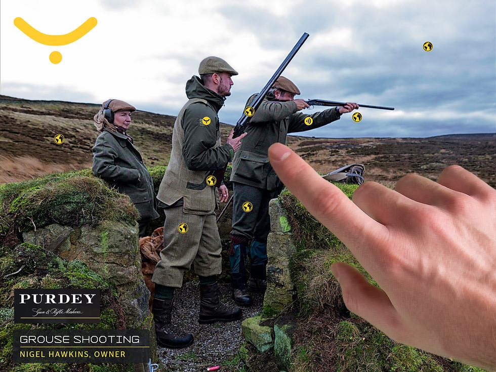 Guide interactif de Purdey pour le tournage de jeux
