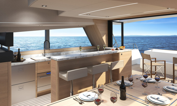 Open Plan Interior option with galley entertainment area