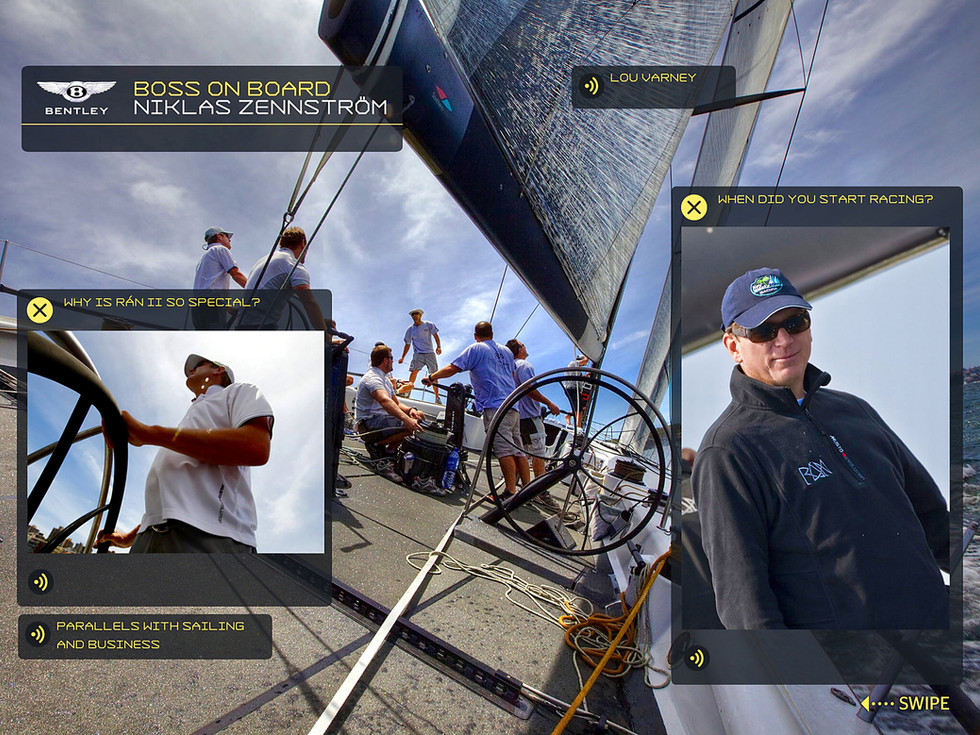 Interactive experiences on sailing