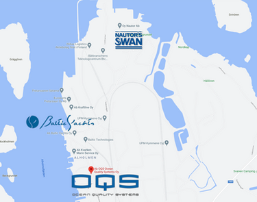 OQS location next to Baltic and Nautor S