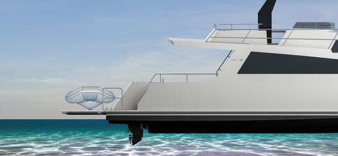 The tender platform raises for transportation