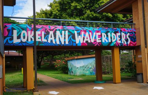 Lokelani Intermediate School Kihei, Hawai'i 5' x 31'
