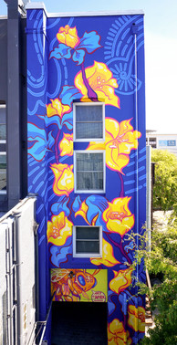 Art Works Downtown San Rafael, California 15' x 50' In collaboration with Joey Rose