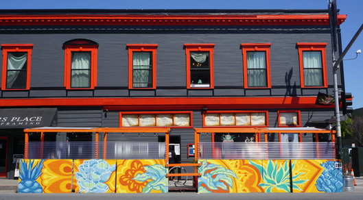 Azucar Lounge San Francisco, California 40' x 4' In collaboration with Paint the Void 2021