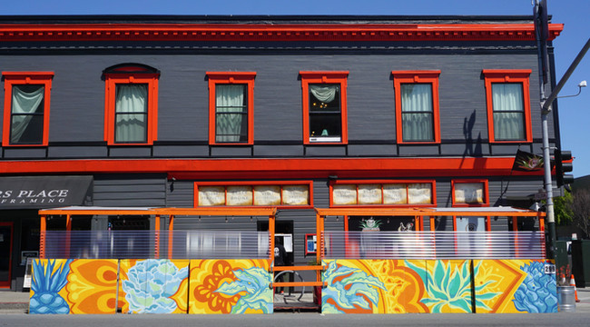 Azucar Lounge San Francisco, California 40' x 4' In collaboration with Paint the Void