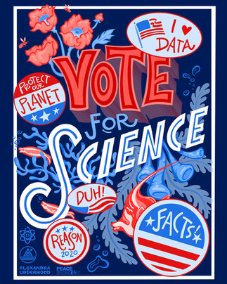 Campagin Poster for PangeaSeed Foundation & March For Science