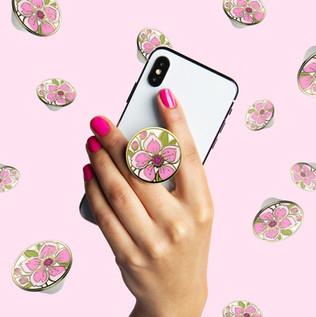 Enamel PopSocket PopGrips - Design and development for Enamel Cherry Blossom