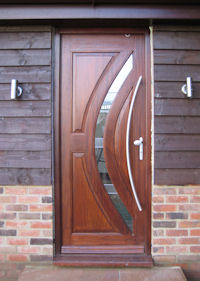 Custom made door in Mahogany