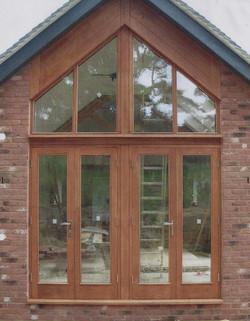 Stained Oak Door Set