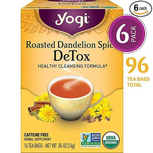 Yogi Tea - Roasted Dandelion Spice DeTox - Healthy Cleansing Formula