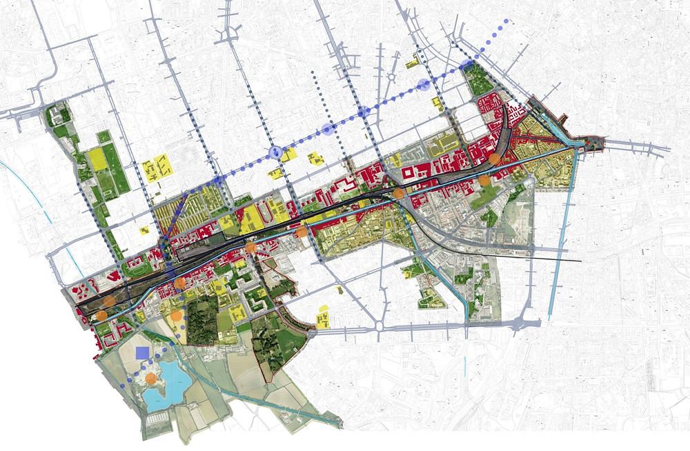 Tra acqua e ferrovia: proposta per il Parco Lineare del Naviglio Grande a collegare i quartieri, Tortona  Solari, Ticinese, Giambellino, Barona e Ronchetto sul Naviglio