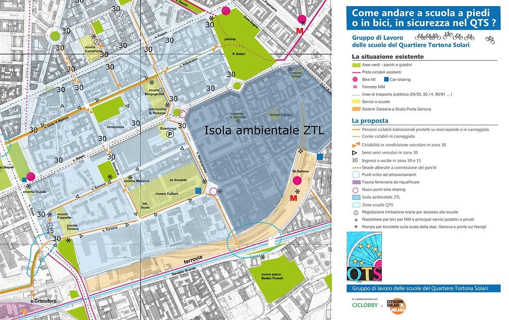 Mappa ragionata dell'intervento originario proposto dal GdL