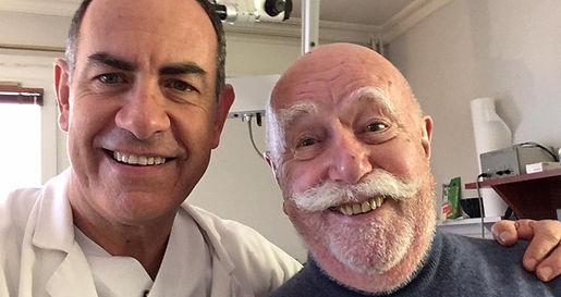 Doctor Stéphane Hervé, an Otolaryngology-head and neck surgery specialist & Jean-Paul Rouland
