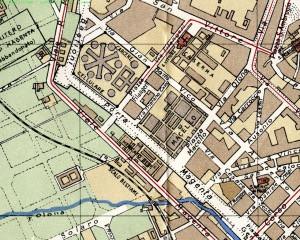 Mappa del quartiere Macello fine '800