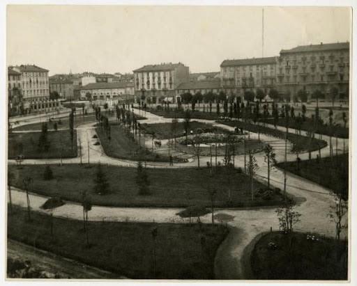1931  costruzione del Parco Solari, arch. Enrico Casiraghi