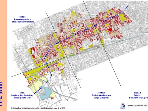 Un progetto di città per i luoghi interessati dalla nuova M4