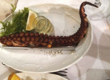 Greek Islands are famous for their seafood dishes, Grilled Octopus