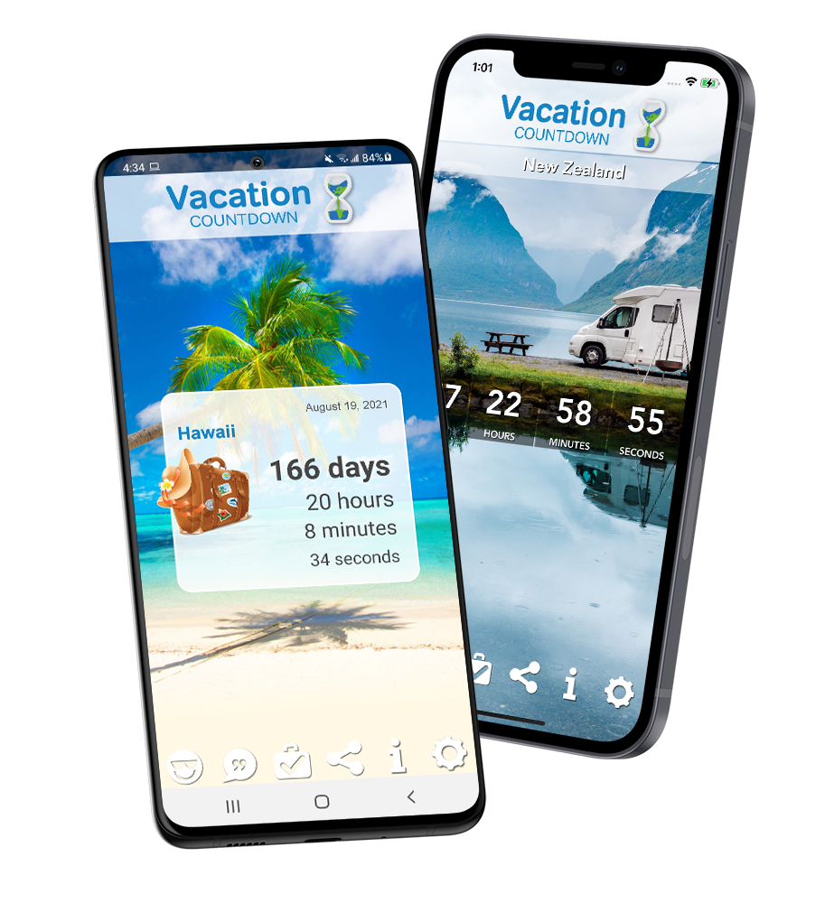 Vacation Countdown App, Best Travel App for iOS and Android