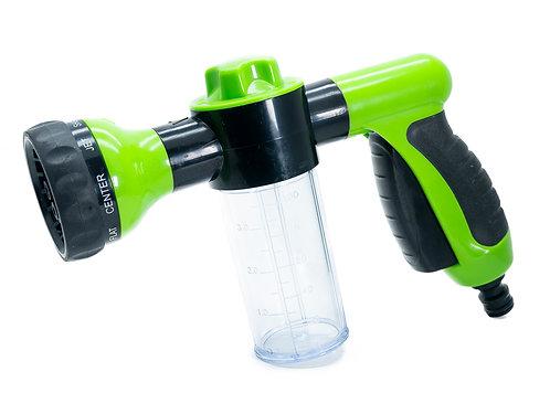 Garden hose foam sprayer