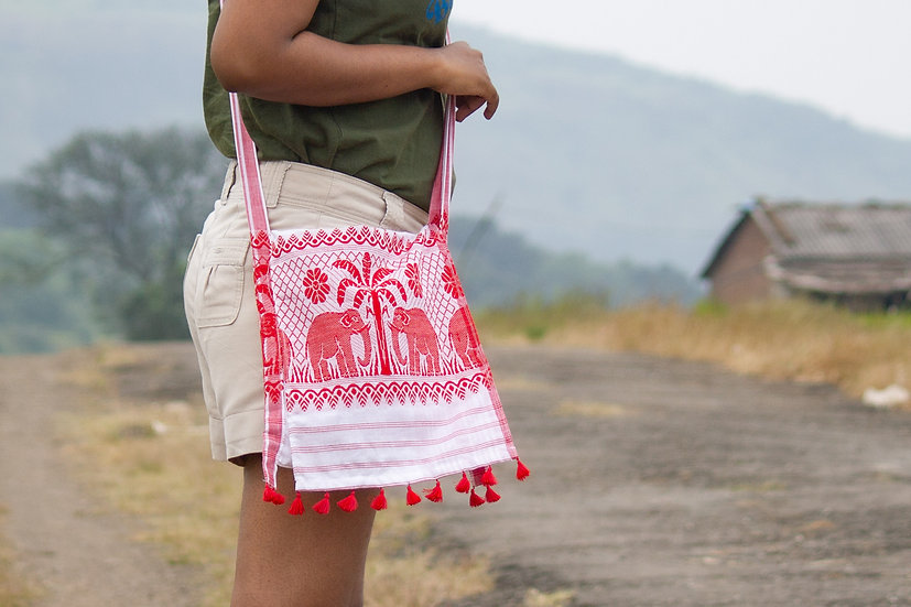 Elephant Jhola (Sling Bag) - Hargila Army