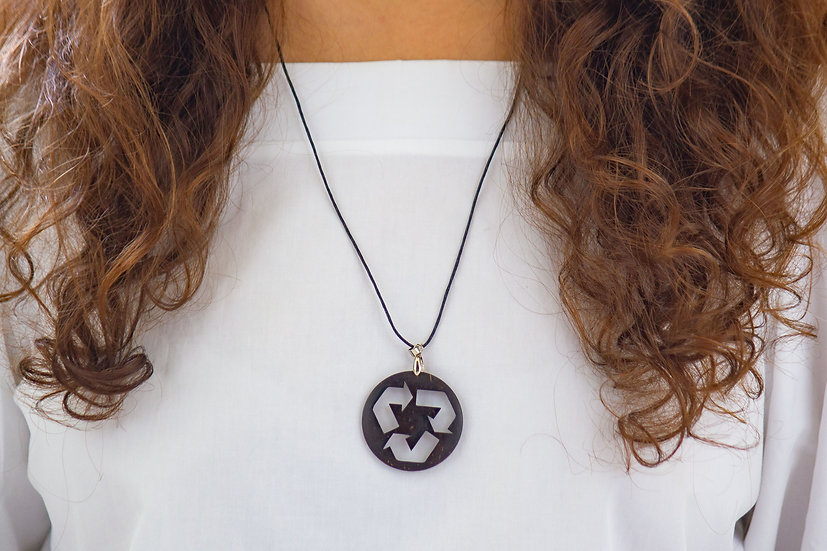 Recyclable Logo Coconut Shell Pendant by EarthCare Designs Foundation