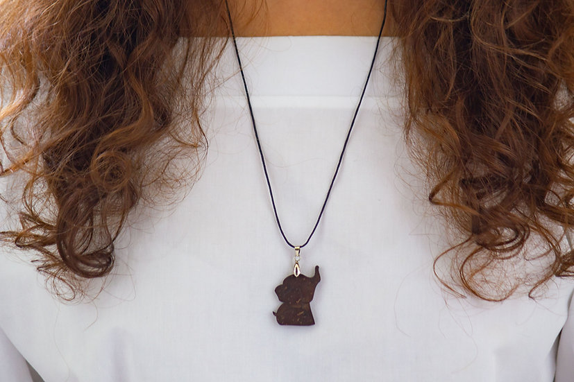 Elephant Coconut Shell Pendant by EarthCare Designs Foundation