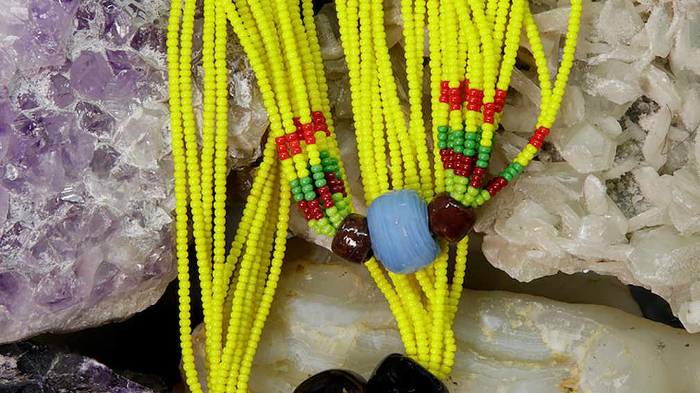 Baiga Moonga Dana Necklace Lemon Yellow