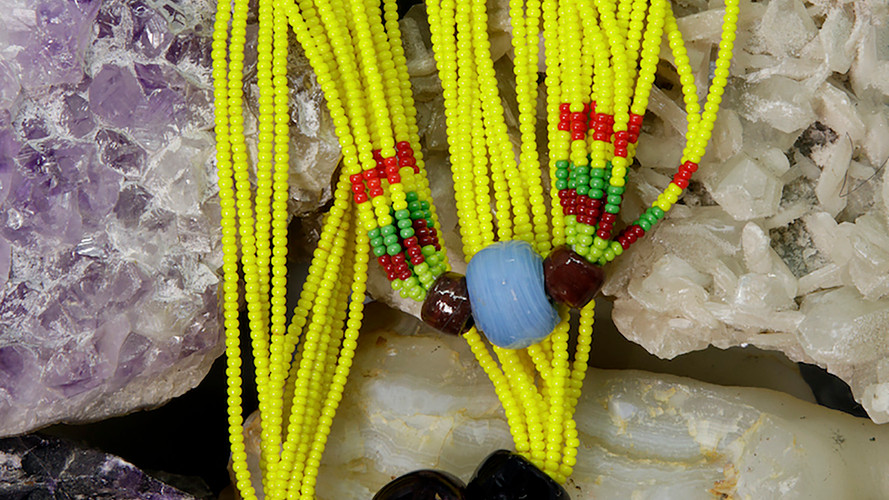Baiga Moonga Dana Necklace Lemon Yellow