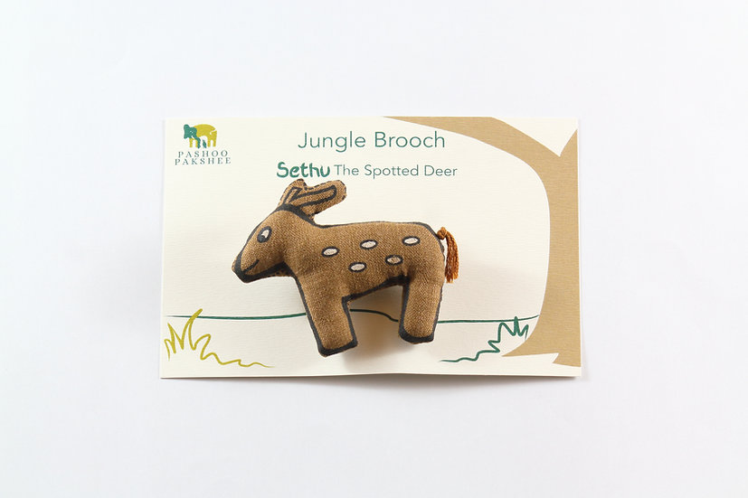 Sethu, the Spotted Deer Brooch