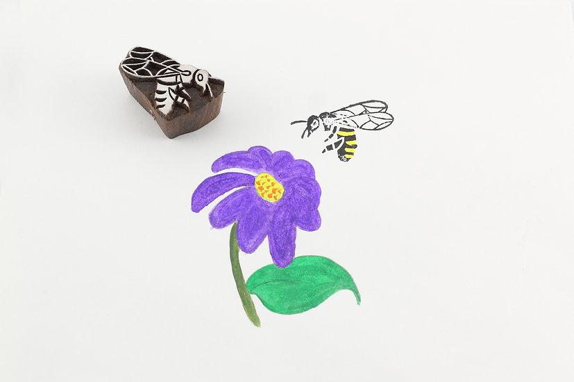 Honey Bee Wooden Stamp