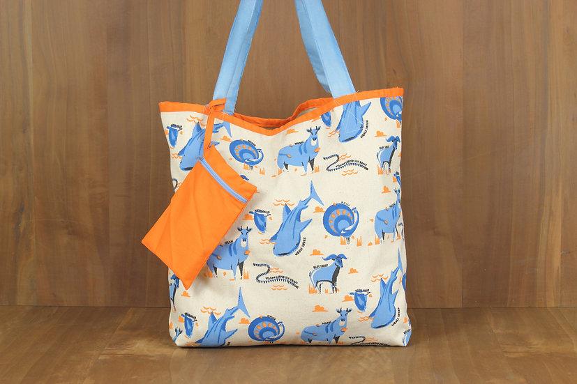 Blue Life Tote Bag