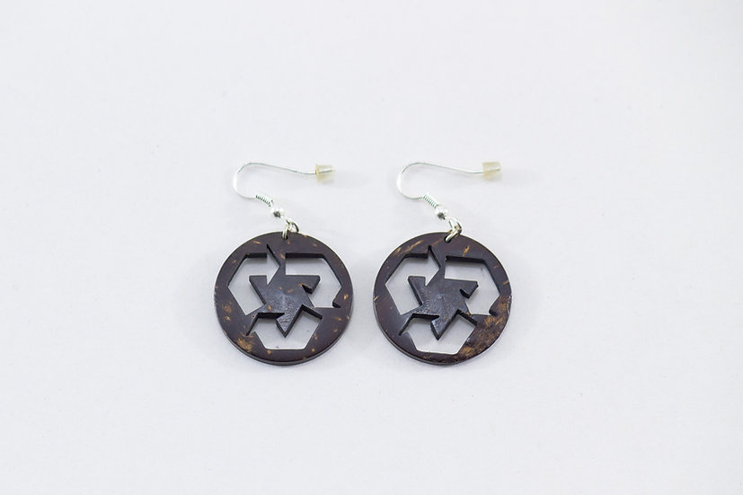 Recyclable Coconut Shell Earrings by EarthCare Designs Foundation