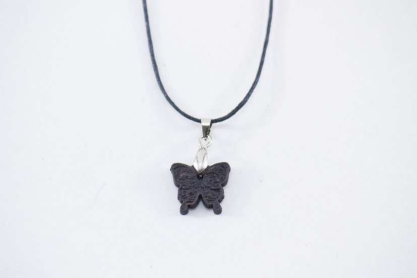 Butterfly Coconut Shell Pendant by EarthCare Designs Foundation
