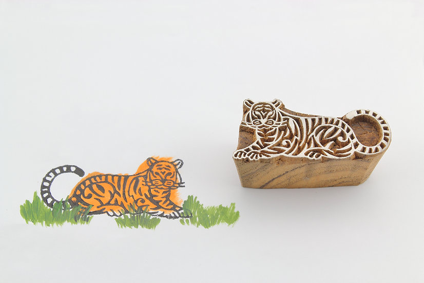 Tiger Wooden Stamp